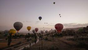 Globo del aire caliente de Turquía Imagen de archivo