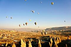 Globo del aire caliente en Cappadocia Foto de archivo libre de regalías