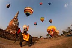 Globo del aire caliente en el festival internacional 2009 del globo de Tailandia Imagen de archivo
