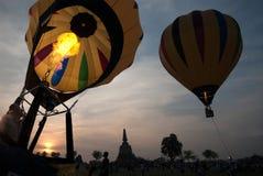 Globo del aire caliente en el festival internacional 2009 del globo de Tailandia Imagenes de archivo