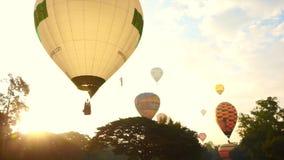 Globo del aire caliente, festival internacional del globo almacen de metraje de vídeo