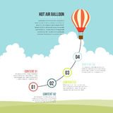 Globo del aire caliente infographic libre illustration