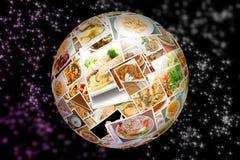 Collage Di Cucina Del Mondo Fotografia Stock - Immagine di asiatico ...