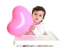Globo del corazón del bebé Fotografía de archivo