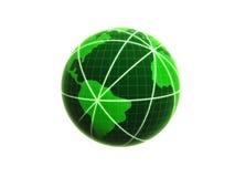 Globo del establecimiento de una red Imagen de archivo libre de regalías