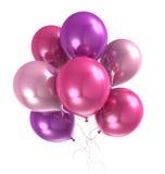 globo del helio del color 3d Fotos de archivo libres de regalías