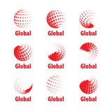 Globo del logotipo del vector Foto de archivo