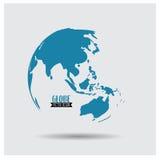 Globo del mondo, illustrazione Fotografia Stock Libera da Diritti