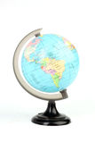 Globo del mondo su bianco Fotografie Stock