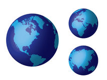Globo del mundo, azul foto de archivo