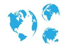 Globo del mundo, azul fotografía de archivo