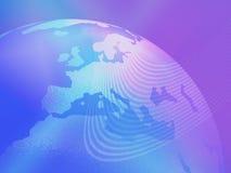 Globo del mundo con las ondas de la energía Fotografía de archivo
