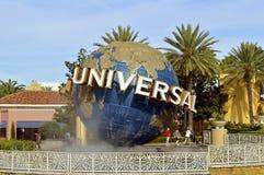 Globo del mundo del centro turístico de los estudios universales Imagen de archivo