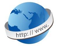 Globo del mundo del WWW ilustración del vector