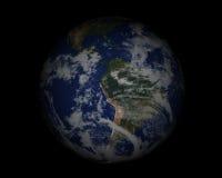 Globo del mundo en black001 Foto de archivo libre de regalías