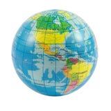 Globo del mundo en blanco Imágenes de archivo libres de regalías