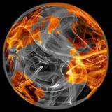 Globo del mundo en fuego stock de ilustración