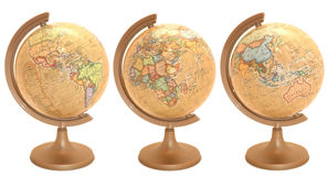 Globo del mundo en lenguaje polaco Imágenes de archivo libres de regalías