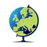 Globo del mundo - Europa Fotografía de archivo