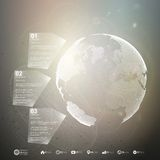 Globo del mundo Plantilla de Infographic para el negocio Imagenes de archivo