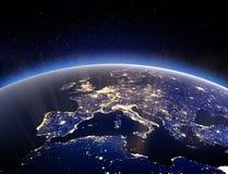 Globo del mundo - tierra del planeta representación 3d stock de ilustración