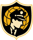 Globo del oficial de policía del protector de seguridad Imagen de archivo libre de regalías