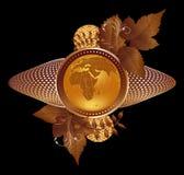 Globo del oro Fotografía de archivo libre de regalías