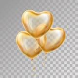 Globo del oro del corazón en fondo stock de ilustración