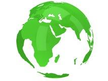 Globo del pianeta della terra 3d rendono Vista dell'Africa Fotografia Stock Libera da Diritti