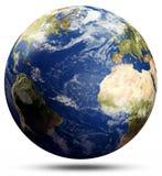 Globo del pianeta - l'Atlantico illustrazione vettoriale