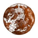Globo del planeta 3D de Rusty Earth Imagenes de archivo