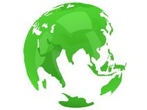 Globo del planeta de la tierra 3d rinden Opinión de la India Imagen de archivo libre de regalías