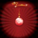 Globo del rojo de la Navidad Imágenes de archivo libres de regalías