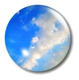 Globo del tasto del cielo blu Fotografia Stock