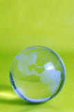 Globo del vidrio verde Imagen de archivo