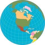 Globo dell'America del Nord. illustrazione vettoriale