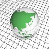 Globo dell'Asia del quadro televisivo Immagini Stock Libere da Diritti