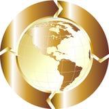 Globo dell'oro Fotografie Stock