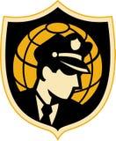 Globo dell'ufficiale di polizia della protezione di obbligazione Immagine Stock Libera da Diritti