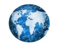 Globo della mappa di mondo Fotografia Stock