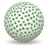 globo della marijuana 3d illustrazione vettoriale