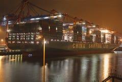 Globo della nave portacontainer CSCL Fotografie Stock Libere da Diritti