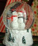 Globo della neve del pupazzo di neve Fotografia Stock