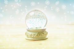 Globo della neve dell'ornamento Fotografia Stock Libera da Diritti