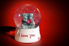 Globo della neve di amore Fotografia Stock