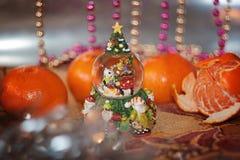 Globo della neve di Natale Fotografia Stock