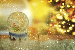 Globo della neve di Natale Nuovo anno Fotografia Stock Libera da Diritti