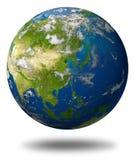 Globo della terra dell'Asia Fotografie Stock Libere da Diritti
