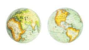 Globo della terra dell'insieme del mondo Fotografia Stock