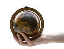 Globo della terra della holding Fotografie Stock Libere da Diritti